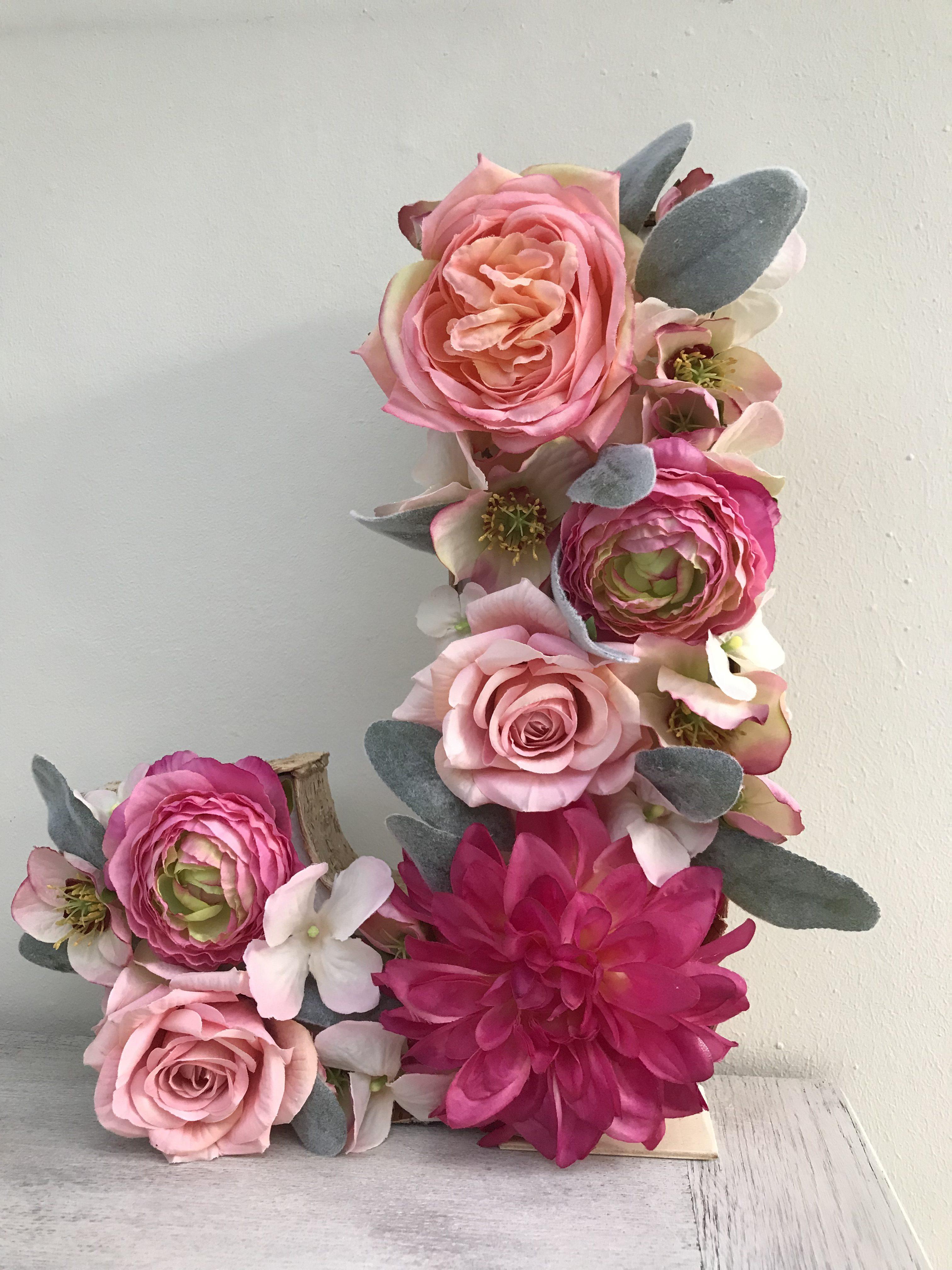 Fresh floral letter