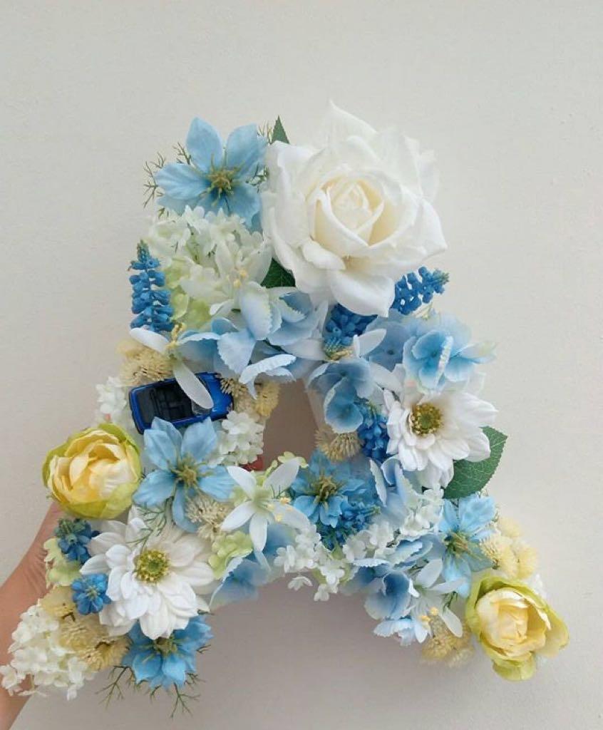 Floral letter op maat